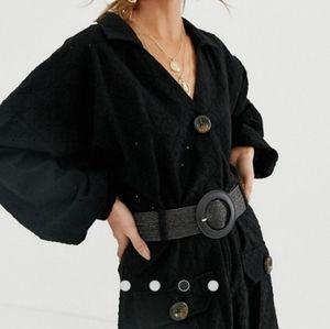 ASOS broderie shirt dress with woven belt